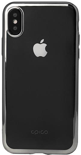 EPICO BRIGHT pružný plastový kryt pro iPhone X - stříbrný