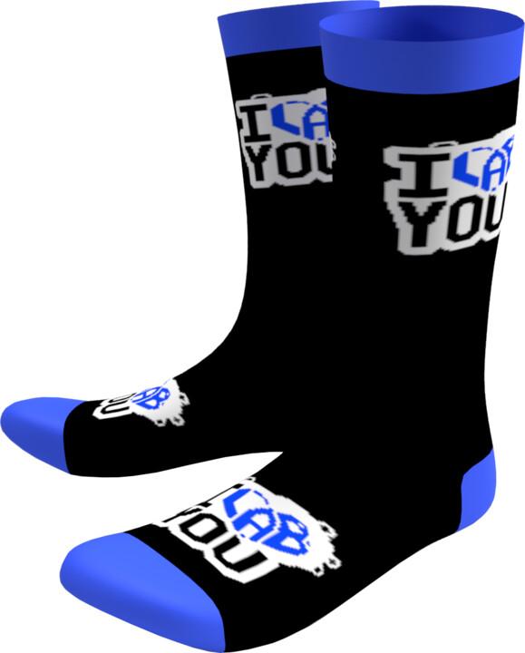 Ponožky I LAB YOU - černo-modrá, 35-38