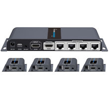 PremiumCord HDMI 1-4 splitter + extender po CAT6/6a/7, FULL HD, 3D - khsplit4g