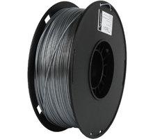 Gembird tisková struna (filament), PLA+, 1,75mm, 1kg, stříbrná O2 TV Sport Pack na 3 měsíce (max. 1x na objednávku)