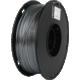 Gembird tisková struna (filament), PLA+, 1,75mm, 1kg, stříbrná