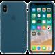Apple silikonový kryt na iPhone X, vesmírně modrá