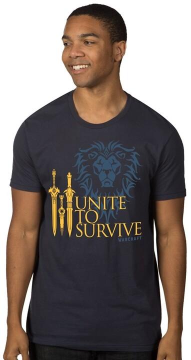 Tričko Warcraft Movie - Unite to Survive (US S / EU M)