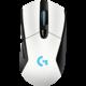 Logitech G703 Lightspeed, bílá  + Logitech Powerplay, bezdrátové nabíjení, látková/pevná