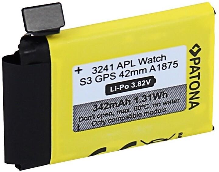 PATONA baterie pro chytré hodinky Apple Watch 3 GPS A1875, 42mm