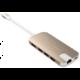 Gmobi Multi-port USB-C Hub HDMI a Ethernet, růžová/zlatá