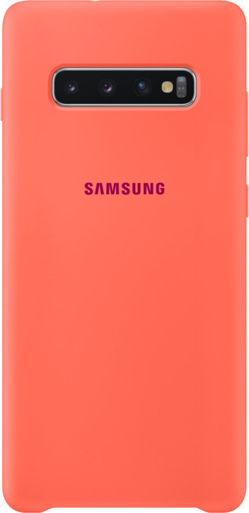 Samsung silikonový zadní kryt pro Samsung G975 Galaxy S10+, růžová (Berry Pink)