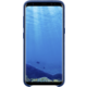 Samsung S8+, zadní kryt - kůže Alcantara, modrá