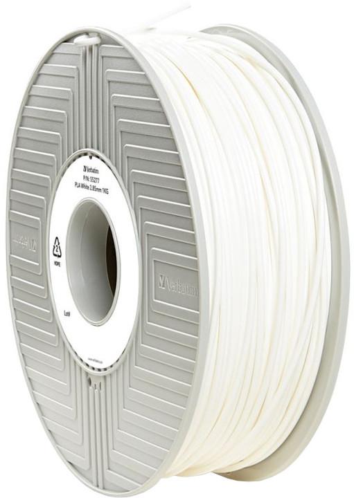 Verbatim tisková struna (filament), PLA, 2,85mm, 1kg, bílá