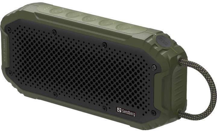 Sandberg voděodolný Bluetooth reproduktor a PowerBank 5200 mAh, Army