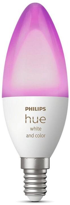 Philips Hue LED White and Color Ambiance žárovka BT E14 6W 470lm 2000-6500K B39