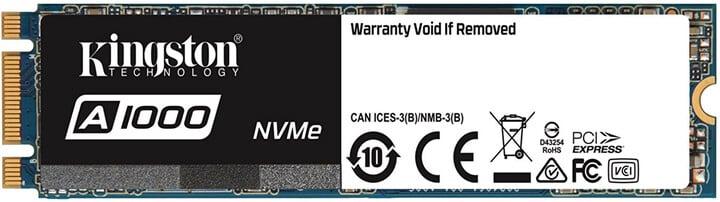 Kingston A1000 NVMe PCIe SSD M.2 - 960GB
