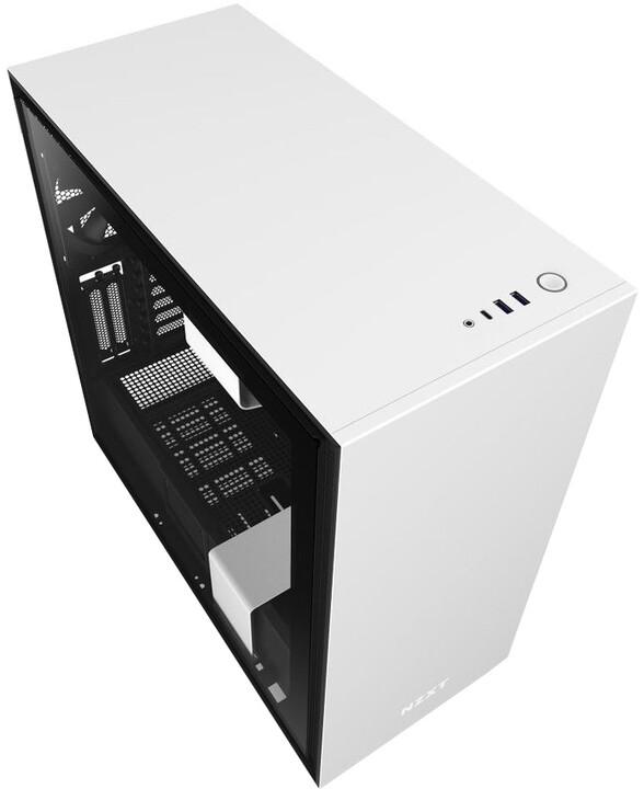 NZXT H710i, okno, bílá