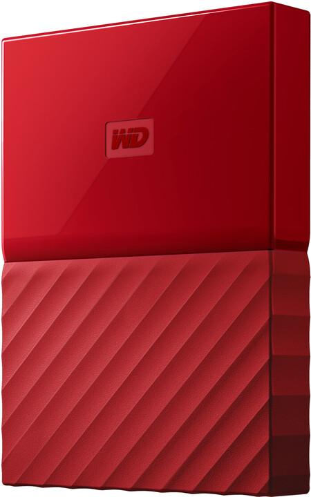 WD My Passport - 2TB, červená