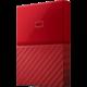 WD My Passport - 2TB, červená  + Kalkulačka Sharp SH-EL531THGY v hodnotě 399 Kč