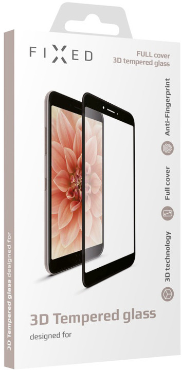 FIXED 3D Full-Cover ochranné tvrzené sklo pro Huawei Mate 10 Lite, černé