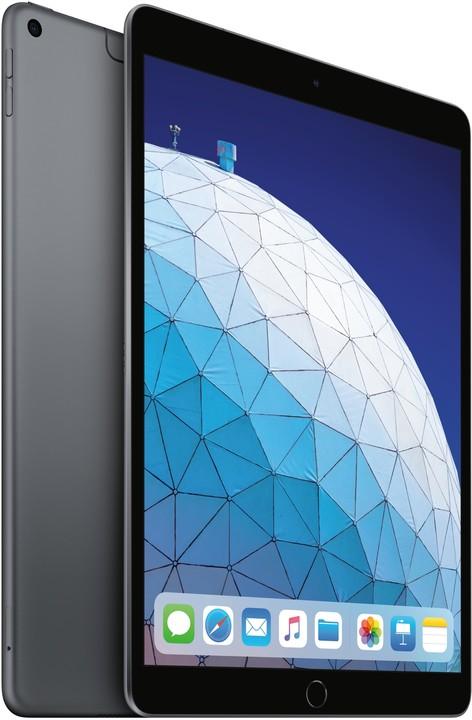 Apple iPad Air, 64GB, Wi-Fi + Cellular, šedá, 2019