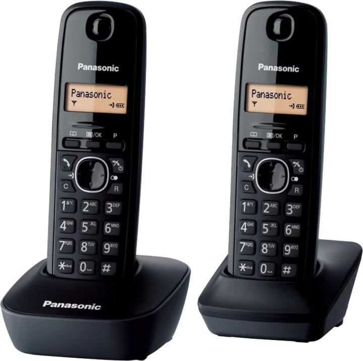 Panasonic KX-TGB212FXB, černá, TwinPack