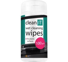 Clean IT mokré ubrousky na plasty 100ks