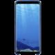 Samsung S8 Zadní kryt - kůže Alcantara, modrá