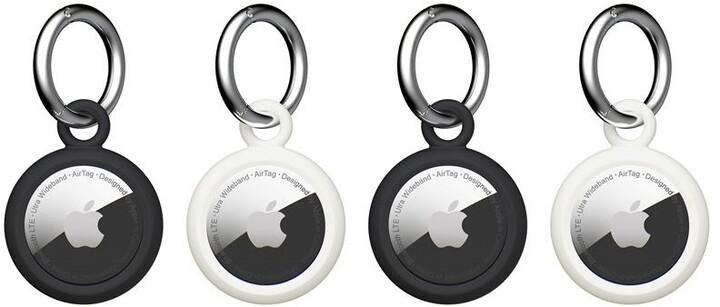 U by UAG klíčenka Dot na Apple AirTag, 4 ks, černá, bílá