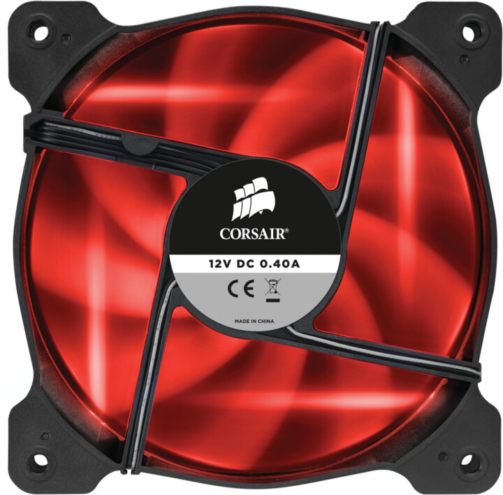 Corsair Air Series SP120, červená led, 120mm