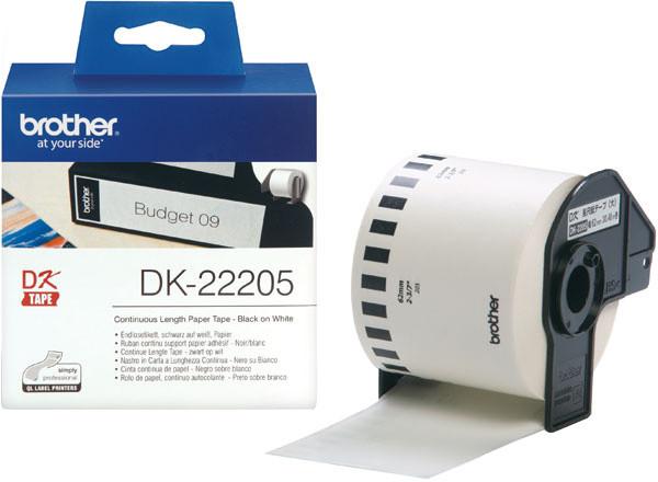 Brother - DK22205 (papírová role 62mm x 30,48m)