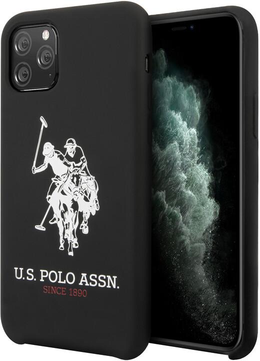 U.S. Polo silikonový kryt Big Horse pro iPhone 11 Pro Max, černá