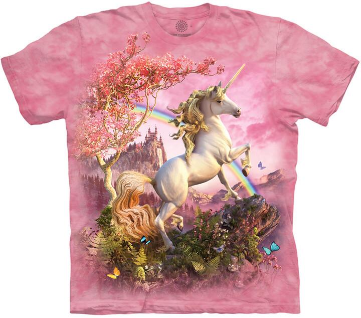 Tričko The Mountain Awesome Unicorn, růžové (US M / EU L)