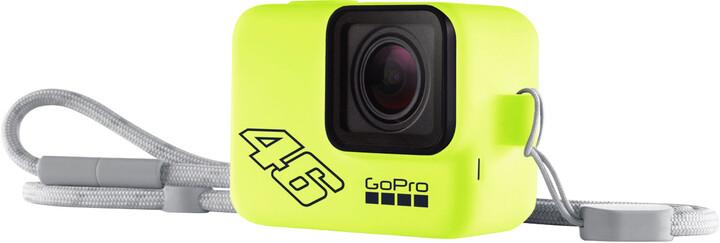 GoPro Sleeve + Lanyard (Silikonový obal neonově žlutý)