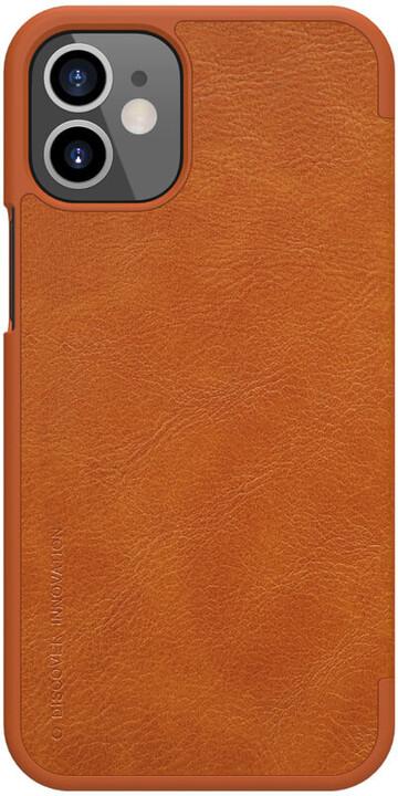 "Nillkin pouzdro Qin Book pro iPhone 12 Mini (5.4""), hnědá"