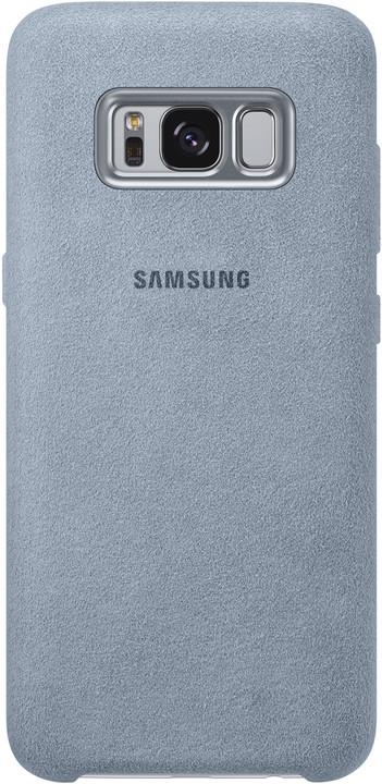 Samsung S8 Zadní kryt - kůže Alcantara, mint