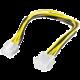 PremiumCord prodloužení napájecího kabelu, 8 pinů, délka 28cm
