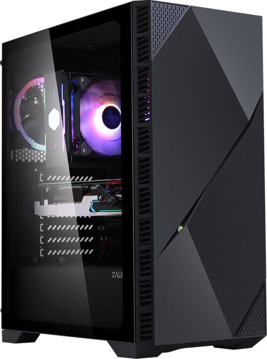 Zalman Z3 ICEBERG BLACK, ARGB, průhledná bočníce, černá
