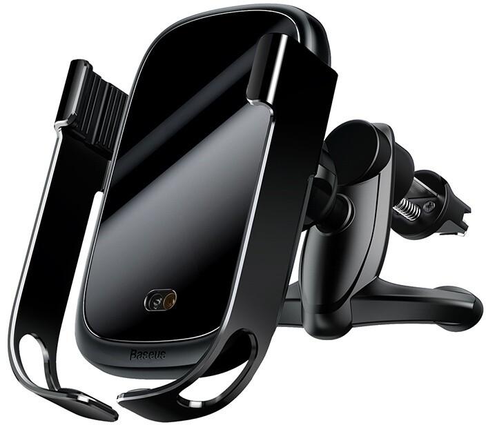 Baseus Rock-solid držák do auta s bezdrátovým nabíjením se senzorem, černá