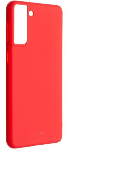 FIXED pogumovaný kryt Story pro Samsung Galaxy S21+, červená