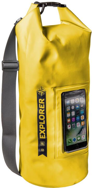 """CELLY voděodolný vak Explorer 10L s kapsou na telefon do 6,2"""", žlutý"""