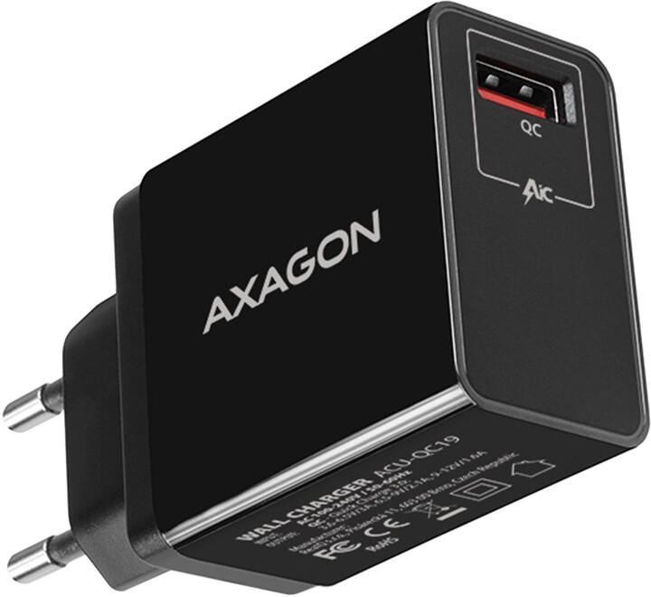 AXAGON ACU-QC19, QUICK nabíječka do sítě, 1x port QC3.0/AFC/FCP/SMART, 19W