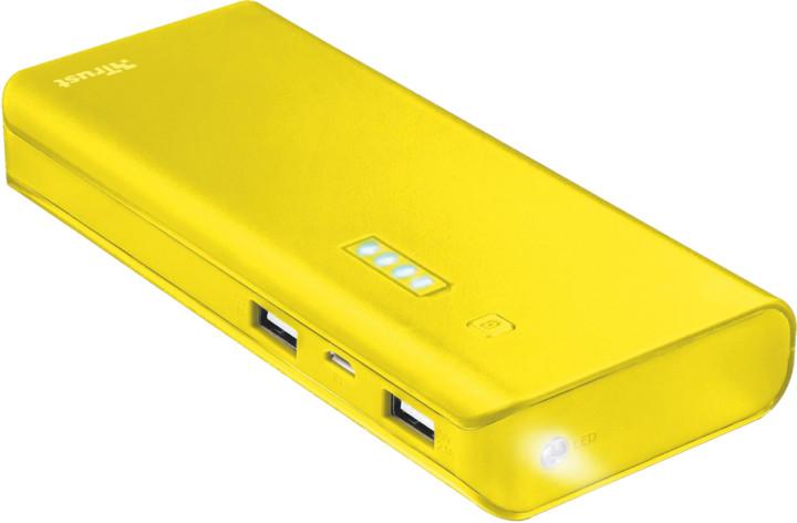 PowerBank Trust Primo 10.000 mAh, žlutá