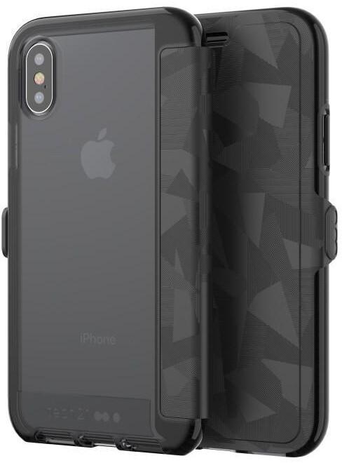 Tech21 Evo Wallet case for iPhone X, černá