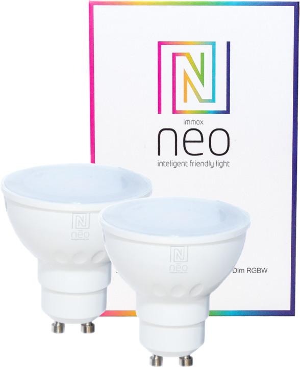 IMMAX Neo 2x LED GU10 3.5W 230lm Zigbee Dim RGBW