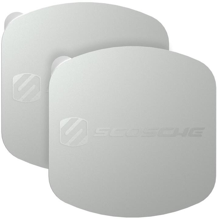 Scosche MagicPlate XL výměnné a doplňující magnetické štítky, stříbrné