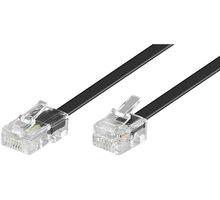PremiumCord kabel telefonní rovný RJ45 - RJ11, 3m, černá - tk86-03b