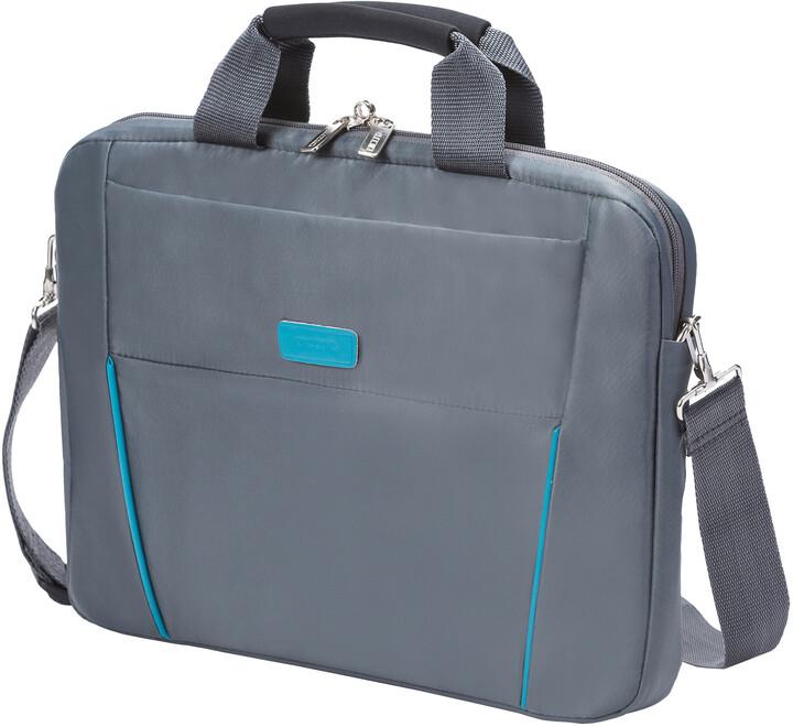 "DICOTA Slim Case BASE 14-15.6"", šedá/modrá"