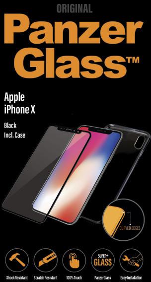PanzerGlass Premium pro Apple iPhone X / XS černé + pouzdro