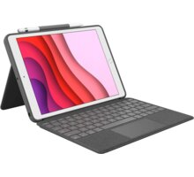 Logitech Combo Touch Premium keyboard case w & Trackpad for iPad Air (3rd Gen) , šedá - 920-009645