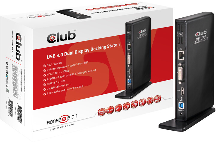 Club3D CSV-3242HD Dual Display