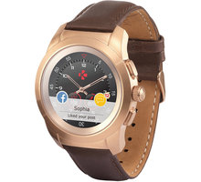 MYKRONOZ ZeTime Premium Pink Gold/Brown - 44 mm