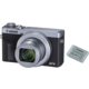 Canon PowerShot G7 X Mark III, stříbrná + Battery kit