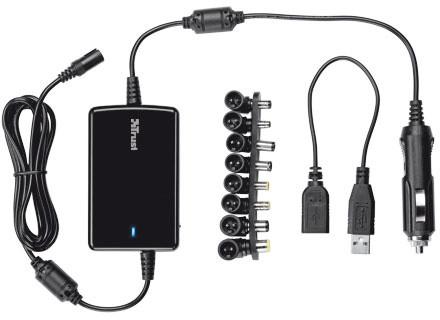 Trust univerzální napájecí adaptér pro notebooky do auta 70W Ultraslim